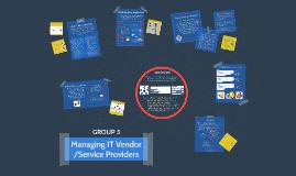Managing Vendors/Service Providers
