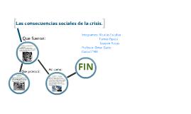 Las consecuencias sociales de la crisis.