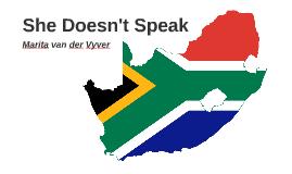 She doesn't speak