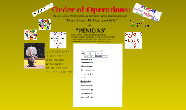 "Copy of Order of Operations (""PEMDAS"") Bulletin Board"