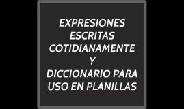 EXPRESIONES ESCRITAS