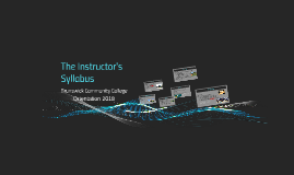 The Instructor's Syllabus