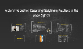 Restorative Justice: Reworking Disciplinary Practices in the