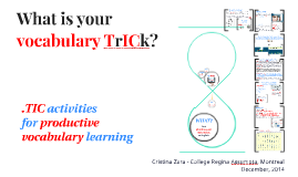 What is your vocabulary TrICk?