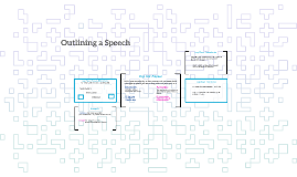 Outlining a Speech