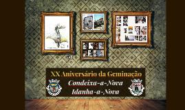 XX aniversário Geminação CDX-IdanhaN