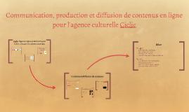 Communication, production et diffusion de contenus en ligne