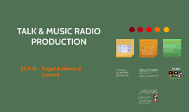 TALK & MUSIC RADIO PRODUCTION
