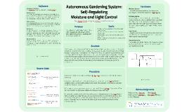 Draft Autonomous Gardening System: Self-Regulated Moisture Control