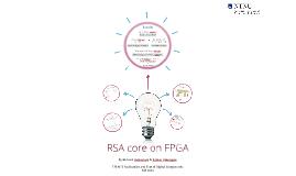 RSA core on FPGA