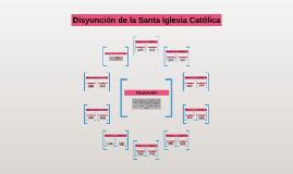 Copy of Disyunción de la Santa Iglesia Católica