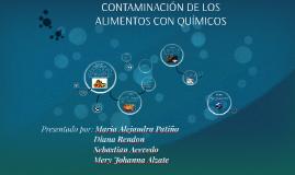 CONTAMINACIÓN DE LOS ALIMENTOS CON QUÍMICOS
