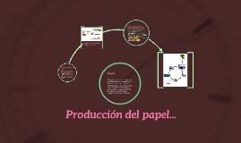 Producción del papel...