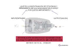 INVESTIGACIÓN DE EFICIENCIA Y RENDIMIENTO DE LAS MAQUINAS(YI