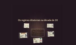 Os regimes ditatoriais na década de 30