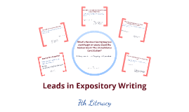 expository essay leads