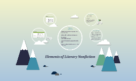 Elements of Literary Nonfiction