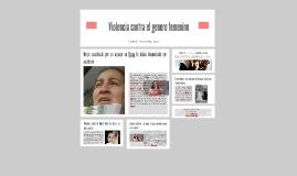 Violencia contra el genero femenino