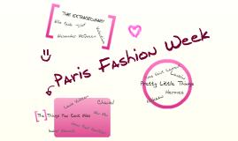 Copy of Paris Fashion Week