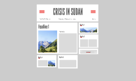 CRISIS IN SUDAN