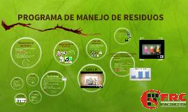 PROGRAMA DE MANEJO DE RESIDUOS EN FRC