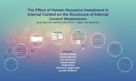 The Effect of Human Resource Investment in