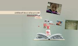 LITERATURA CATALANA DE POSTGUERRA 4t