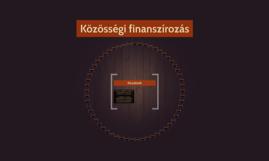 Közösségi finanszírozás