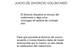 JUICIO DE DIVORCIO VOLUNTARIO