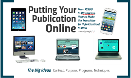 Putting Your Publication Online