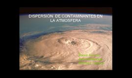 Disperción de contaminantes en la atmosfera