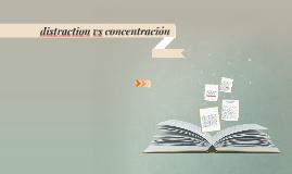Copy of distraction vs concentración