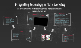 Integrating Technology in Math Workshop