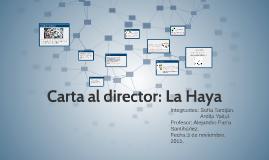 Carta al director: La Haya