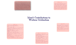 Islam's contributions to western civilisation