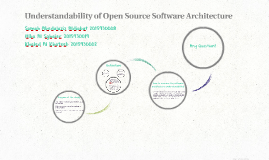 Understandability of Open Source Software Architecture