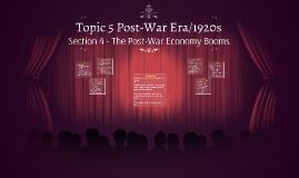 (1) Topic 5 Post-War Era/1920s