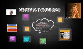 El NEOEVOLUCIONISMO