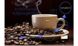 Koffeinhaltige Aufgussgetränke