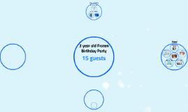 Copy of Frozen Birthday Party