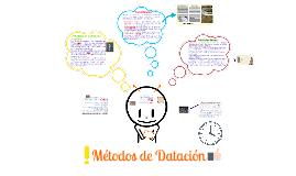 Copy of Métodos De Datación