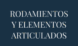 Copy of Copy of RODAMIENTOS Y ELEMENTOS ARTICULADOS