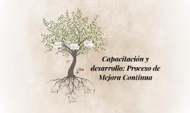 Copy of Capacitación y desarrollo: Proceso de Mejora Continua