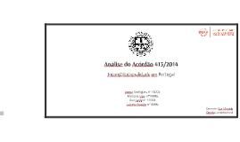 Análise do Acórdão nº 413/2014
