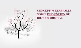 CONCEPTOS GENERALES SOBRE PREVENCION DE RIESGO FORESTAL