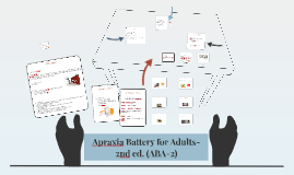 Battery adults apraxia for
