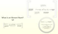 Develop an Honest Heart