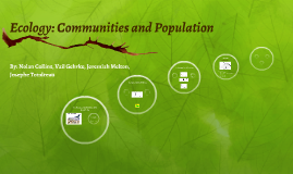 Ecology: Communities and Population