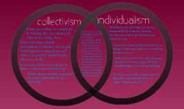 Collectivism Vs. Individualism