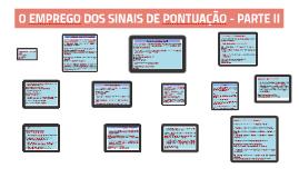 SINAIS DE PONTUAÇÃO - PARTE II